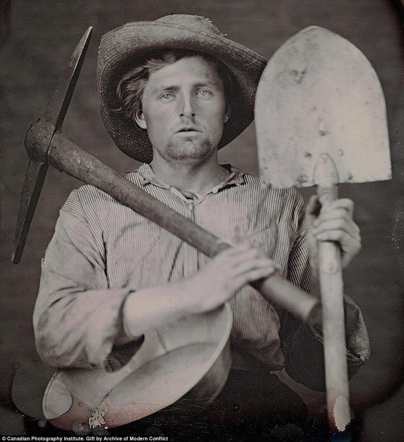 Редкие фотографии 19 века: золотая лихорадка в Калифорнии
