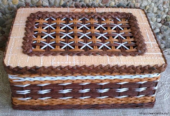 Плетение из газет. Мастер-класс и примеры применения фигурной косички (5) (700x475, 350Kb)