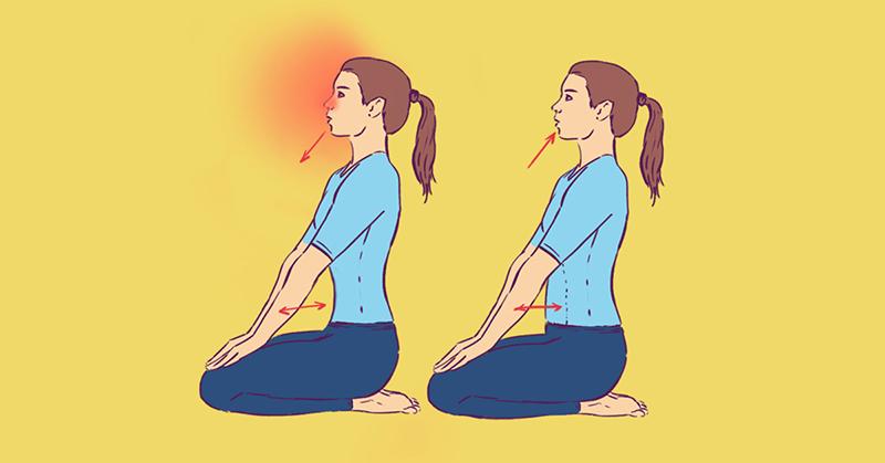 Это дыхательное упражнение поможет избавиться от насморка за две минуты