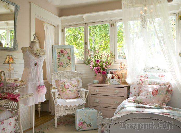 Шебби-шик в интерьере: описание стиля, выбор цвета, отделки, мебели и декора