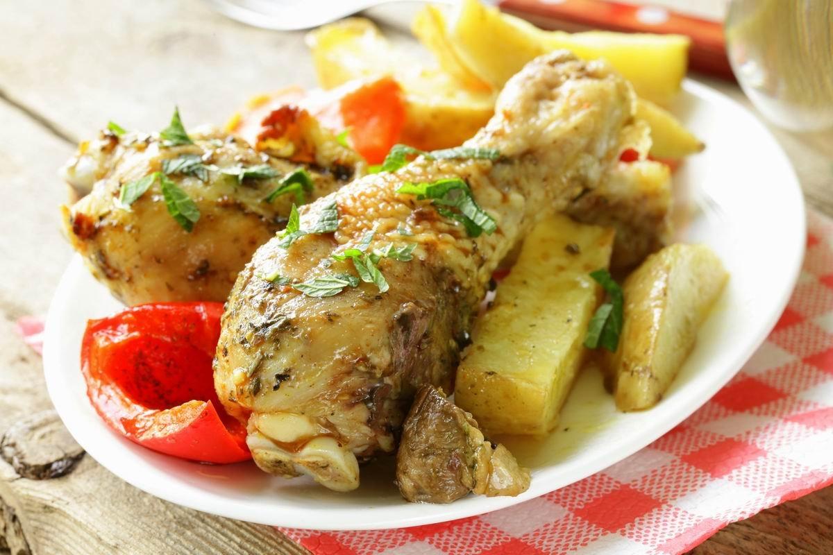 Курица в банке с овощами без воды, без масла, в собственном соку