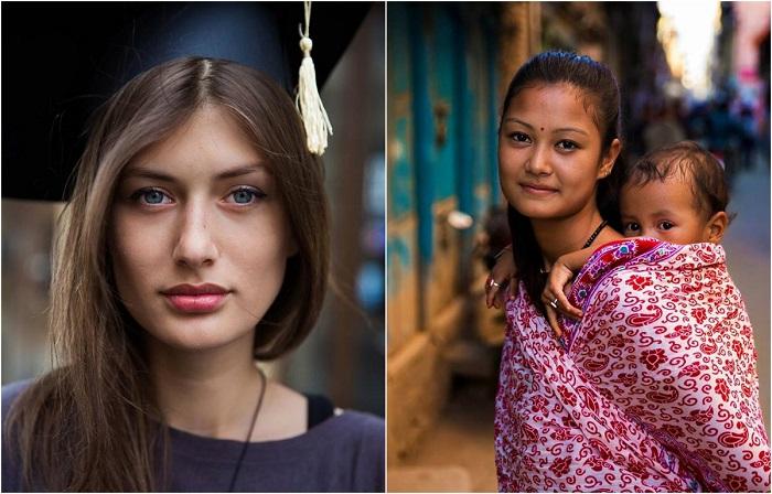 «Атлас красоты»: 16 женских фотопортретов, на которых запечатлены очаровательные девушки из разных стран