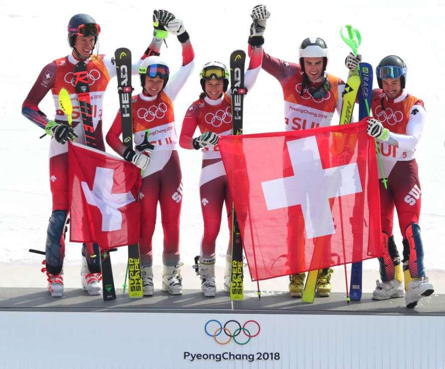 Швейцария завоевала командно…