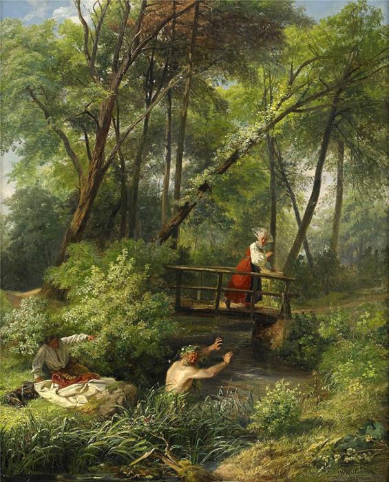 Автор картины – художник Йозеф Вильгельм Валландер (Josef Wilhelm Wallander).