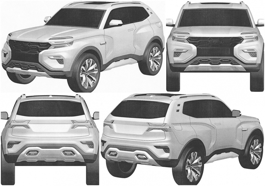 Решено: дизайн новой LADA 4x4 запатентован марки и модели,новые модели