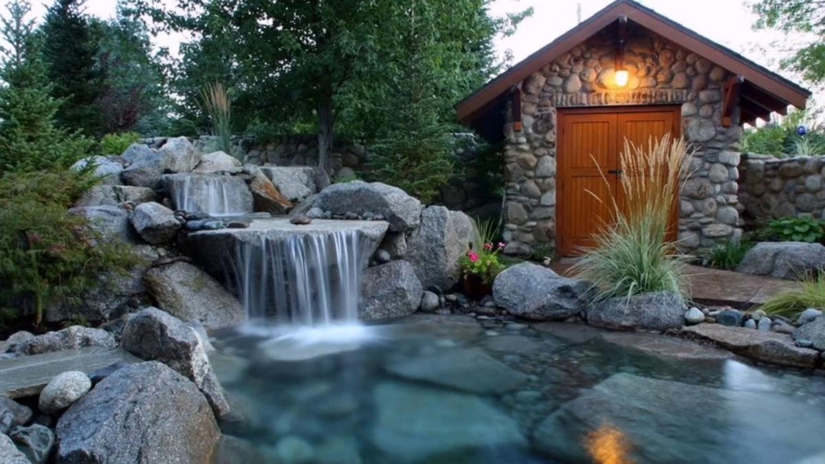 Делаем водопад из цемента для украшения садового участка своими руками декор,для дома и дачи,ландшафтный дизайн