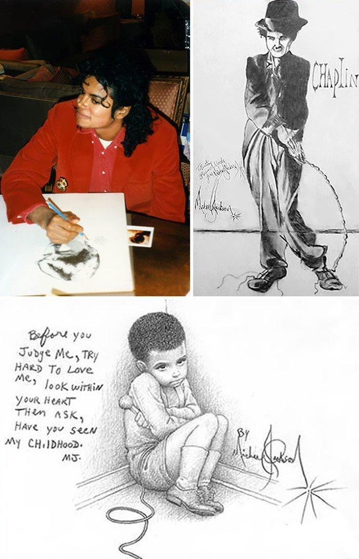 Майкл Джексон живопись, звезды, знаменитости, кино, многогранный талант, неожиданное увлечение, художники, эстрада
