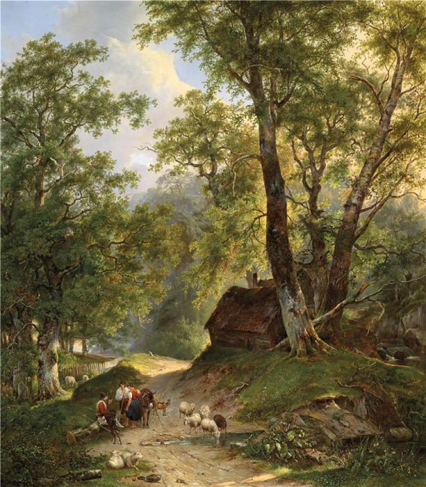 Автор картины – голландский художник Франс Арнольд Бройхаус де Грут (Frans Arnold Breuhaus de Groot).