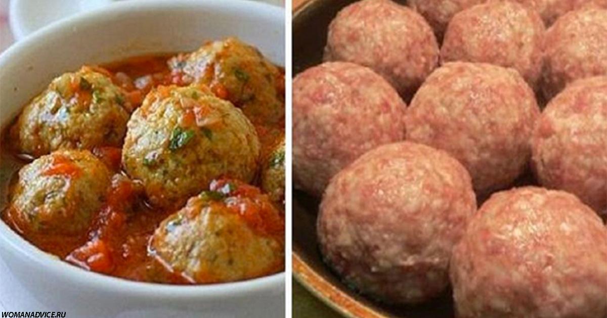 Рецепт фаршированных мясных шариков  с роскошным томатным соусом