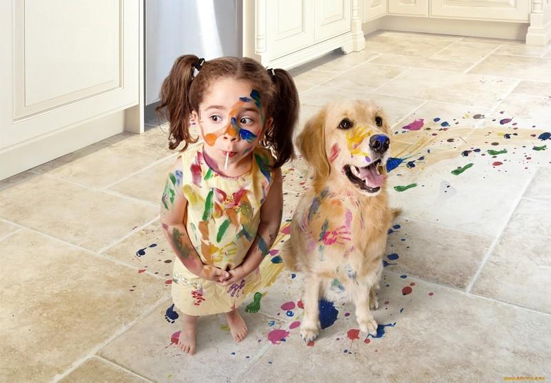 Дети и животные. Подборка смешных фотографий (20 фото)