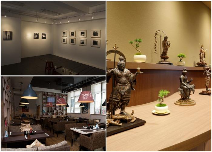 В необычном здании находится Ebisu East Art Gallery и несколько ресторанов (Токио).