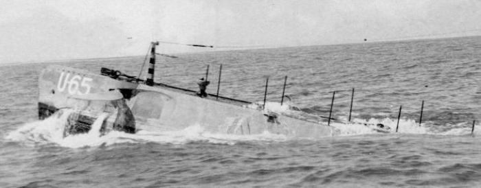 Немецкая подводная лодка U-65.