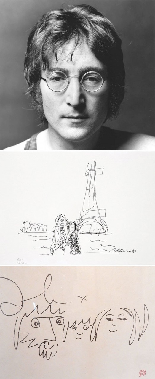 Джон Леннон живопись, звезды, знаменитости, кино, многогранный талант, неожиданное увлечение, художники, эстрада