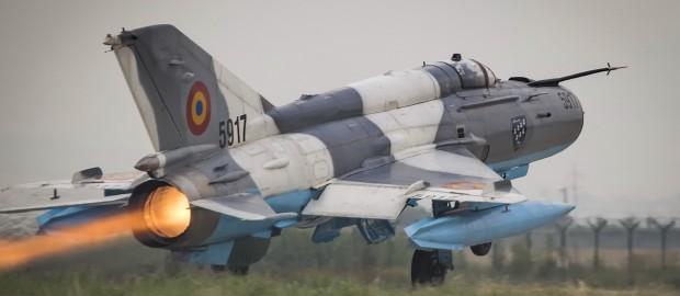 В соцсетях появился снимок необычного МиГ-21 румынских ВВС