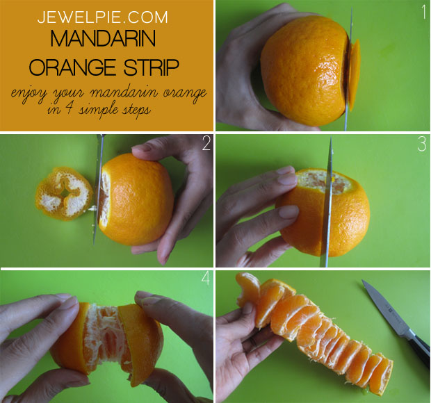 Easy Way To Peel Mandarin Orange