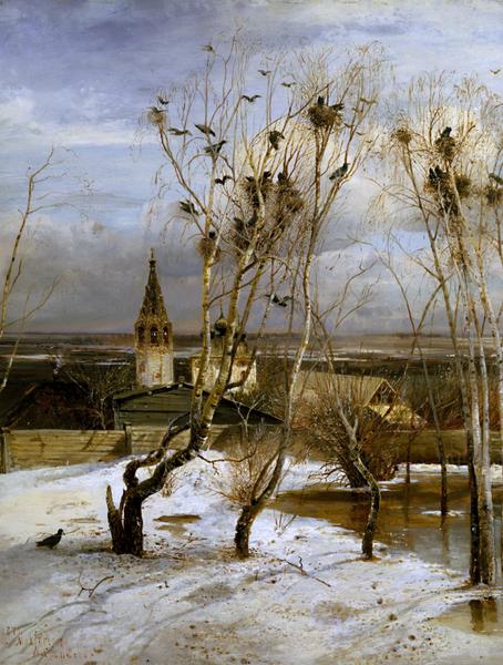 """* """"Грачи прилетели"""", 1879, 62×48.5 см"""