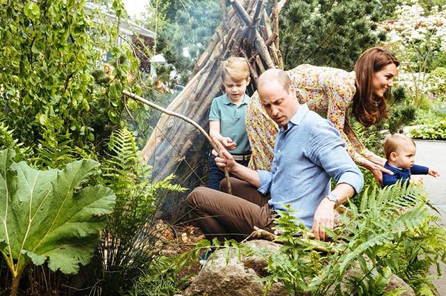 Кулинария и садоводство: как Кейт Миддлтон и принц Уильям проводят время с детьми на карантине Монархии