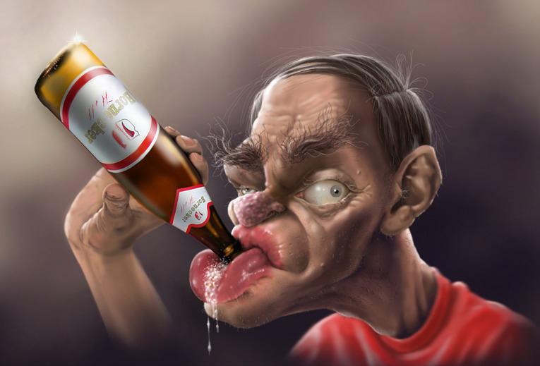 Открытка алкоголика