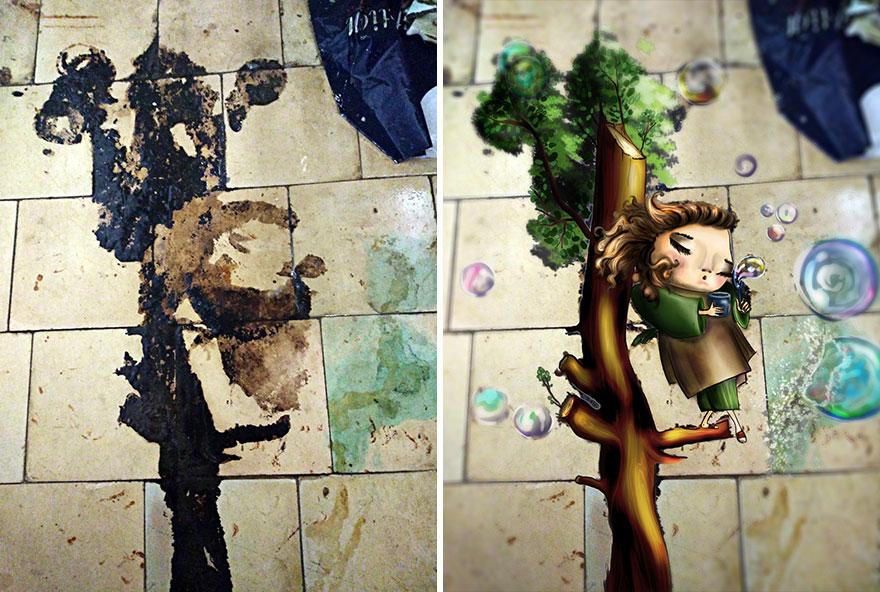 Художница превращает стены старых домов в произведения искусства