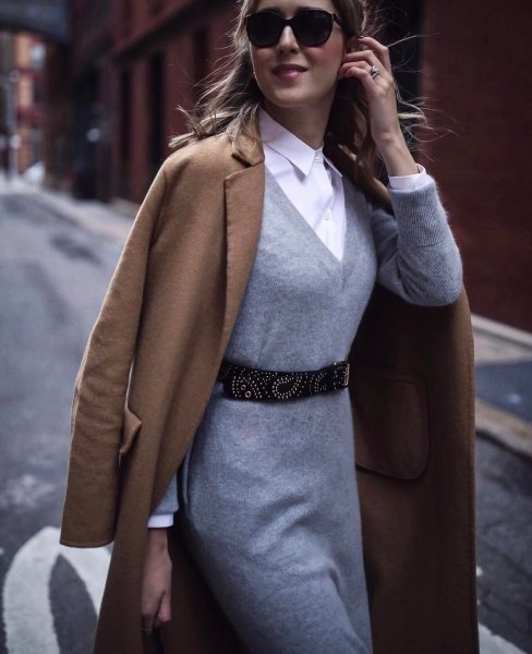 15 платьев на холода, которые отлично смотрятся с длинными сапогами