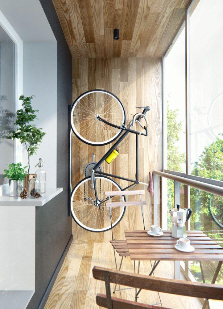 Балкон в цветах: Белый, Светло-серый, Серый, Коричневый, Бежевый. Балкон в стиле: Минимализм.