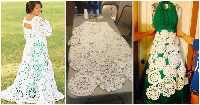Невеста вязала крючком своё свадебное платье 8 месяцев. И результат бесподобен