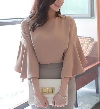 Элегантные блузы с красивыми рукавами 3