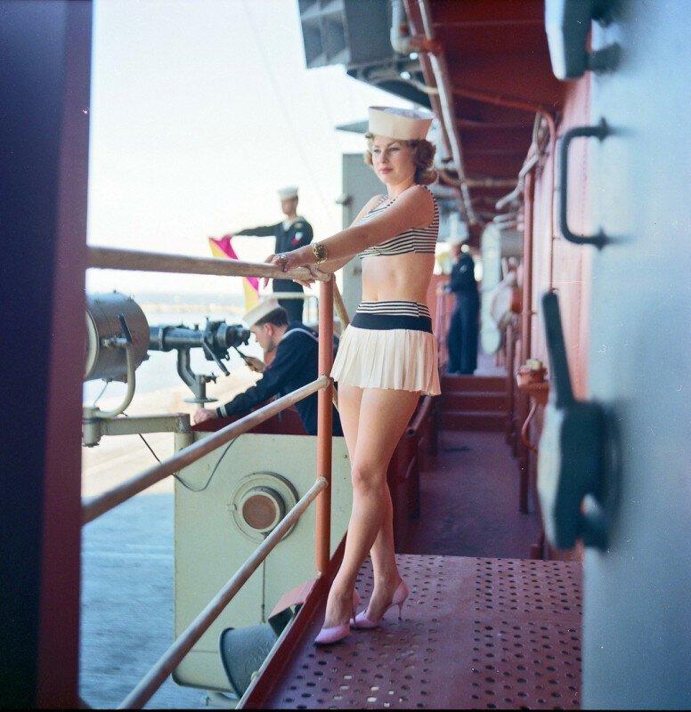 Женщина на корабле! США, 1960-е история, ретро, фото
