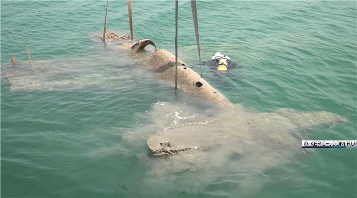 Со дна Керченского пролива подняли советский истребитель времён Великой Отечественной войны