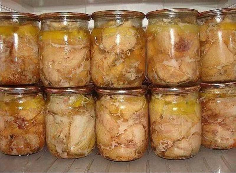 Вкуснейшая домашняя тушенка из курицы еда, закрутки, кулинария, курица, мясо, рецепт, тушенка