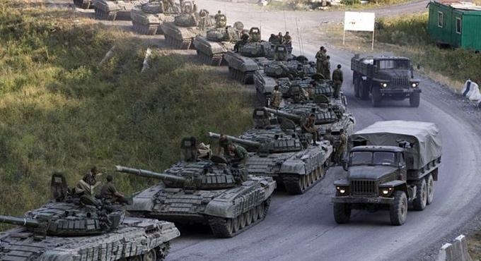 Танковая колонна под Луганском