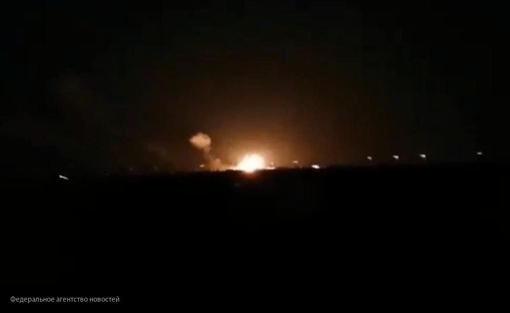 Сирийские системы ПВО отражают удар ВВС Израиля
