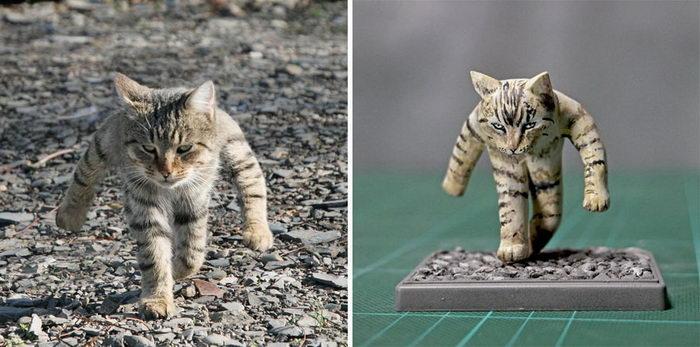 Смешные фото животных в реальность: забавные работы японского скульптора