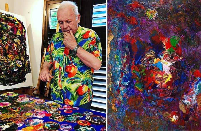 Энтони Хопкинс живопись, звезды, знаменитости, кино, многогранный талант, неожиданное увлечение, художники, эстрада