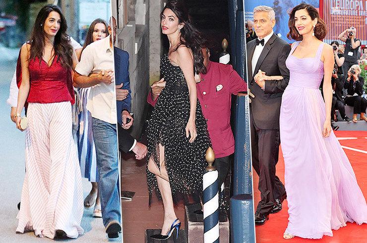 Взгляд не оторвать! 6 потрясающе стильных выходов Амаль Клуни после родов