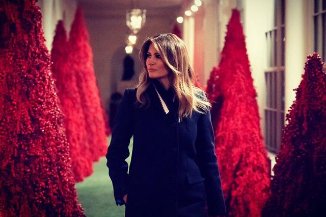Мелания Трамп оценила рождественские украшения в Белом доме