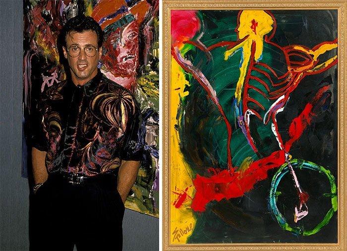 Сильвестр Сталлоне живопись, звезды, знаменитости, кино, многогранный талант, неожиданное увлечение, художники, эстрада