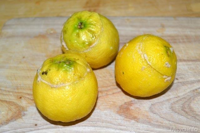 Limoni ripieni di tonno 7