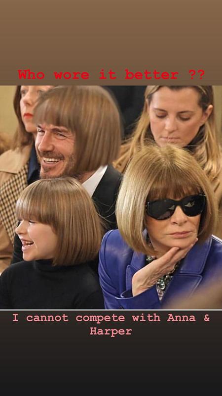 Харпер Бекхэм постриглась, как Анна Винтур, а потом их прическу повторил и Девид Бекхэм Мода / Стиль звезд