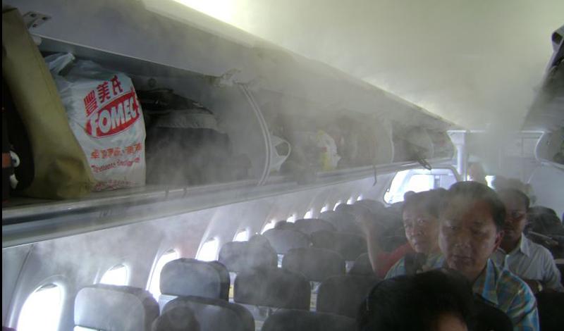 Самые грязные места самолета