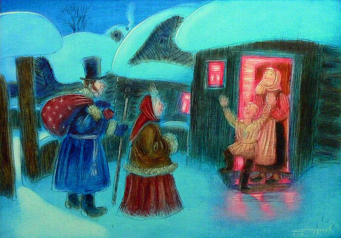 Дед Мороз и Снегурочка. Автор: Игорь Шаймарданов.