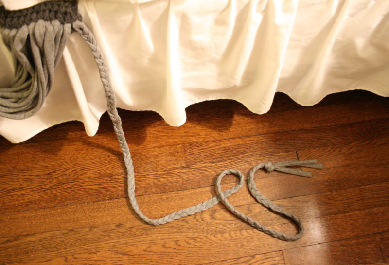 Замысловатый шарфик из трикотажа и вязаного элемента одежда,переделки,рукоделие,своими руками,сделай сам