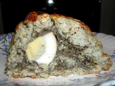Нежный мясной рулет с грибной начинкой