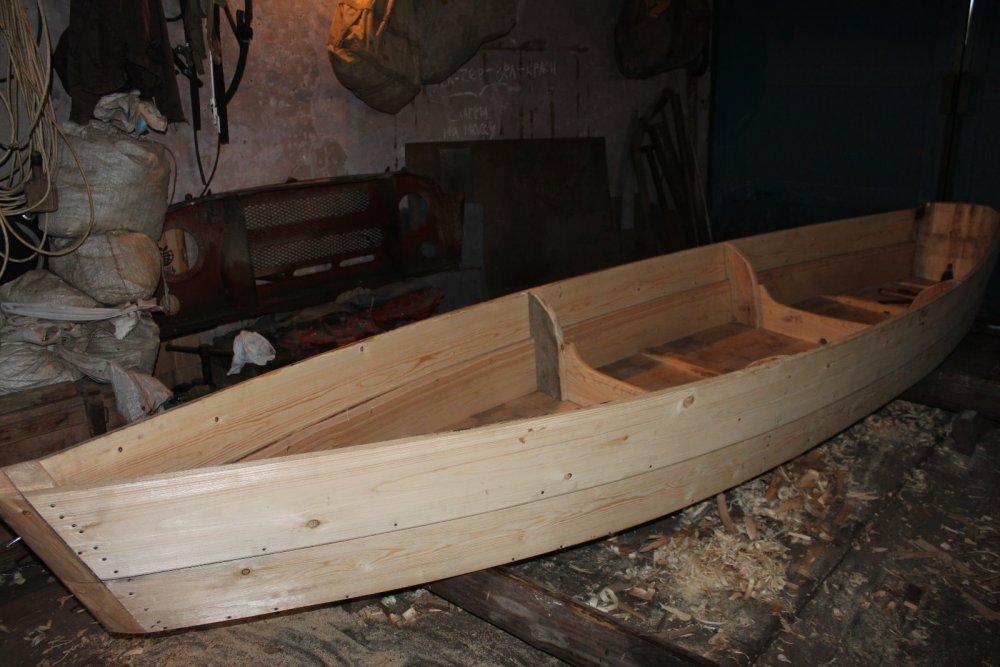 Изготовление деревянной лодки плоскодонки