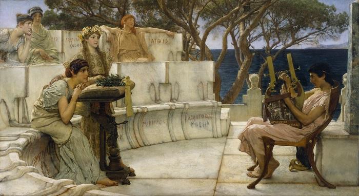Сапфо и Алкей на картине Лоуренса Альма-Тадемы.