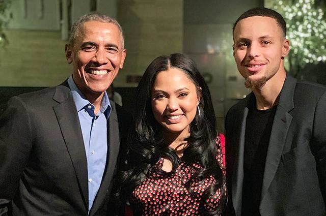 Крисси Тейген и Джон Ледженд на ужине с Бараком Обамой в Сан-Франциско