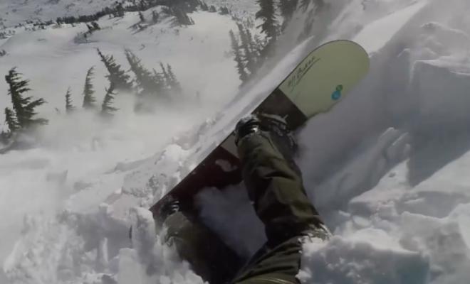 Сноубордист против лавины: попал с камерой в снежный водоворот и выбрался Культура