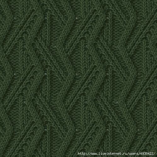 Схемы для красивых объёмных узоров спицами