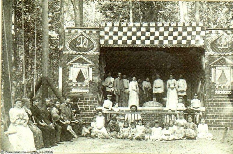Любительский дачный театр. Россия, 1900 год Весь Мир в объективе, ретро, старые фото