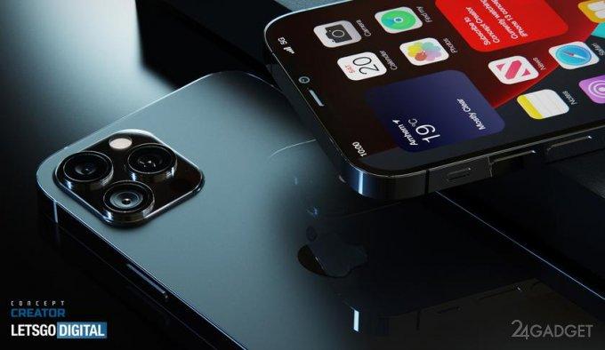 Новые смартфоны Apple iPhone 12s и iPhone 12s PRO получат уменьшенную «челку» и датчик Touch ID под дисплеем